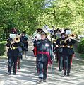 The Essex Yeomanry Band - Parading at Audley End House, Essex, England.jpg