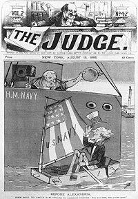 The Judge Aug 12 1882 cover Before Alexandria