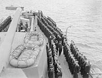 The King Visits the Home Fleet. 6 June 1942, on Board Ships of the Home Fleet. A8751.jpg