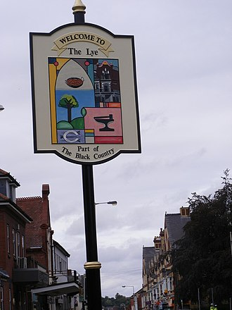Lye, West Midlands - Image: The Lye town sign