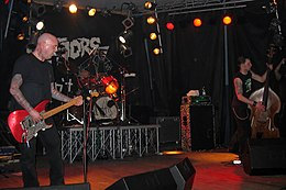 The Meteors performing in Pordenone, Italy in 2006