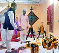 The Minister of State for Home Affairs, Shri Hansraj Gangaram Ahir participating in Shastra Puja at the 37th Battalion, CRPF, at Aheri Tehsil of Gadchirolli district, Maharashtra on October 18, 2018.JPG