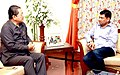 The Minister of State for Panchayati Raj, Shri Nihalchand calling on the Chief Minister of Mizoram, Shri Lal Thanhawla, in Aizawl on June 16, 2015.jpg