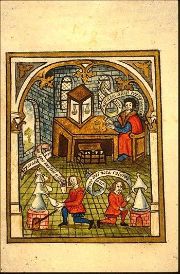 Folio 20v from Thomas Norton The Ordinall of A...