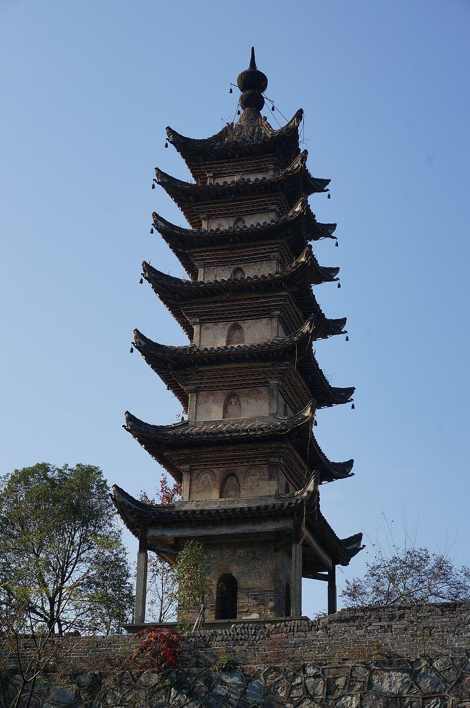 The Pagoda in Changqing Temple 05 2014-11.JPG