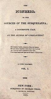 <i>The Pioneers</i> (novel) 1823 historical novel by James Fenimore Cooper
