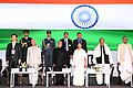 The President, Shri Pranab Mukherjee at the inauguration of the Bengal Global Business Summit, in Kolkata.jpg