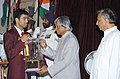 The President Dr. A.P.J. Abdul Kalam presenting the Arjuna Award -2005 to Shri Akhil Kumar for Boxing, at a glittering function in New Delhi on August 29, 2006. The Union Sports Minister Shri Mani Shankar Aiyar is also seen.jpg