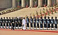 The President of the Democratic Socialist Republic of Sri Lanka, Mr. Maithripala Sirisena inspecting the Guard of Honour, at the Ceremonial Reception, at Rashtrapati Bhavan, in New Delhi on February 16, 2015.jpg