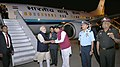 The Prime Minister, Shri Narendra Modi being received by the Governor of Maharashtra, Shri C. Vidyasagar Rao and the Chief Minister of Maharashtra, Shri Devendra Fadnavis, on his arrival at Pune on December 24, 2016 (1).jpg
