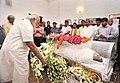 The Prime Minister, Shri Narendra Modi visited the residence of Shri L.K. Advani and paid tributes to late Smt. Kamla Advani, in New Delhi on April 06, 2016 (2).jpg