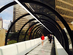 Peachtree Center - Skywalks are a defining feature of Peachtree Center