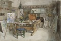 The Studio. From A Home (26 watercolours) (Carl Larsson) - Nationalmuseum - 24212.tif