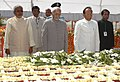 The Vice President, Shri Mohd. Hamid Ansari paying homage at the Samadhi of former President, Late Dr. Rajendra Prasad, on his death anniversary, in Patna on February 28, 2010.jpg