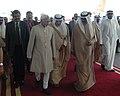 The Vice President, Shri Mohd. Hamid Ansari with the Crown Prince of Kuwait, Sheikh Nawaf Al-Ahmad Al-Jaber Al-Sabah, on his arrival at Kuwait on April 06, 2009.jpg