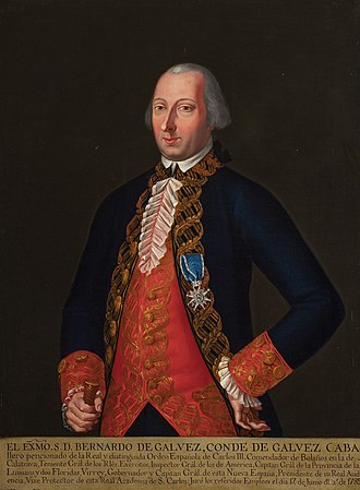 Bernardo de Gálvez, 1st Viscount of Galveston - Portrait by José Germán Alfaro, 1785