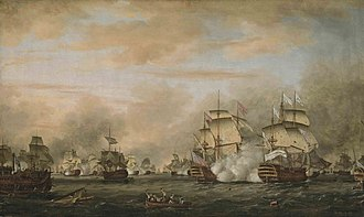 Îles des Saintes - Battle of Les Saintes, 12 April 1782.