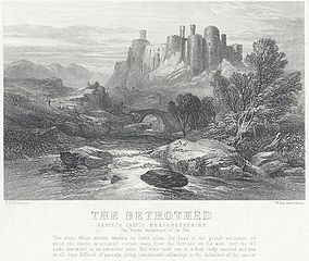 The betrothed: Harlech Castle, Merionethshire: the Garde Doloureuse of the tale