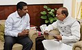The former Tennis player, Shri Vijay Amritraj calling on the Minister of State for Youth Affairs and Sports (IC), Water Resources, River Development and Ganga Rejuvenation, Shri Vijay Goel, in New Delhi on April 11, 2017 (1).jpg