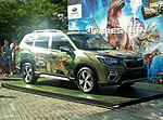 The frontview of Subaru FORESTER Advance (5AA-SKE) ver. THE MOST USEFUL SCHOOL IN THE WORLD THE LIVE.jpg