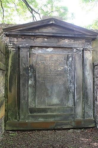 Robert Blair, Lord Avontoun - The grave of Robert Blair, Greyfriars Kirkyard