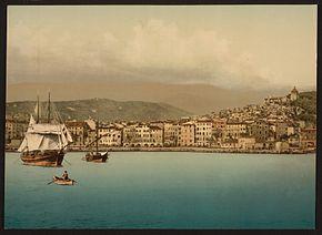 La città vista dal mare tra il 1890 e il 1900