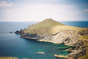 North Cornwall - The Rumps, on Pentire Point, North Cornwall, site of Iron Age cliff fortifications