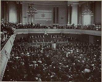Basel - Second World Zionist Congress in Basel, 1898 (Stadtcasino)
