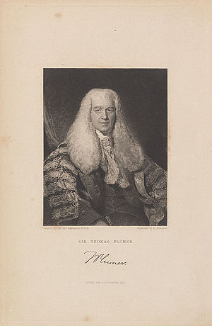 Thomas Plumer - Sir Thomas Plumer.