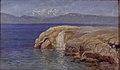 Thorvald Niss - Klippekyst med vandfald på Eubøa - KMS1777 - Statens Museum for Kunst.jpg