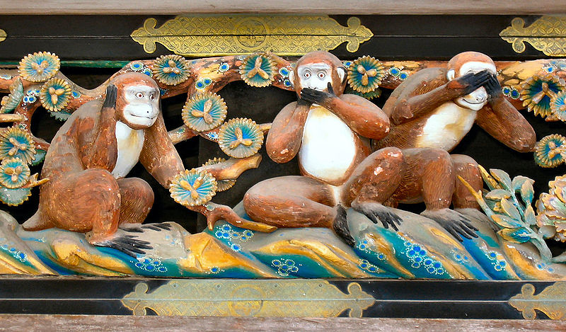 Fichier:Three Wise Monkeys,Tosho-gu Shrine.JPG