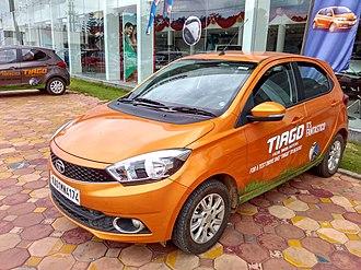 Tata Tiago - Image: Tiago Test Drive Car Bengaluru