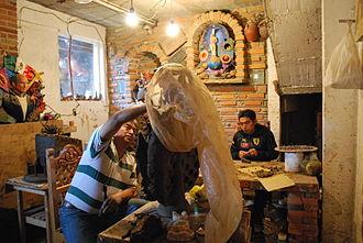 Soteno family - View of the Tiburcio Soteno workshop in Metepec