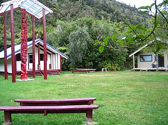 Tieke Kāinga - The marae and DOC hut at Tieke Kāinga, upper Whanganui River, New Zealand