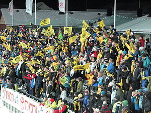 Aspmyra Stadion - Glimt supporters on the East Stand