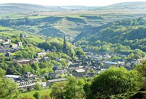 Todmorden - Image: Tod from golf course