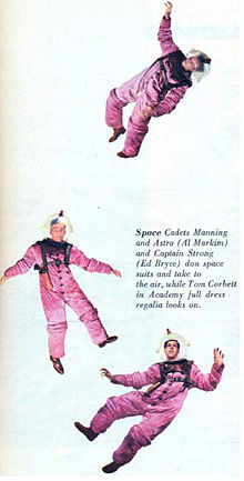 Tom Corbett Space Cadet Cadets Manning Astro and Strong 1951.jpg