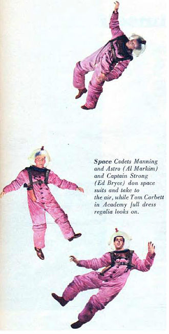 Tom Corbett, Space Cadet - Image: Tom Corbett Space Cadet Cadets Manning Astro and Strong 1951