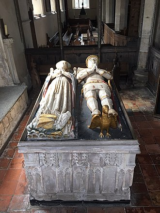 William Phelip, 6th Baron Bardolf - The tomb of William Phelip, 6th Baron Bardolf, and Lady Joan Bardolf in the south chapel of St Mary's Church, Dennington, Suffolk