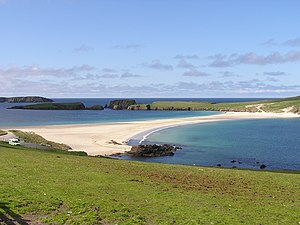Tombolo - The tombolo connecting St Ninian's Isle with the Shetland Mainland