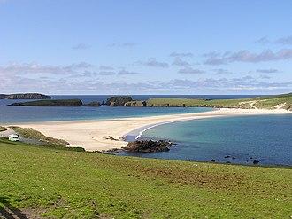 St Ninian's Isle Treasure - St Ninian's Isle and tombolo