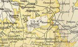 Location of Rajgarh