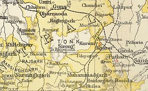 Rajgarh State - Rajgarh State in the Imperial Gazetteer of India