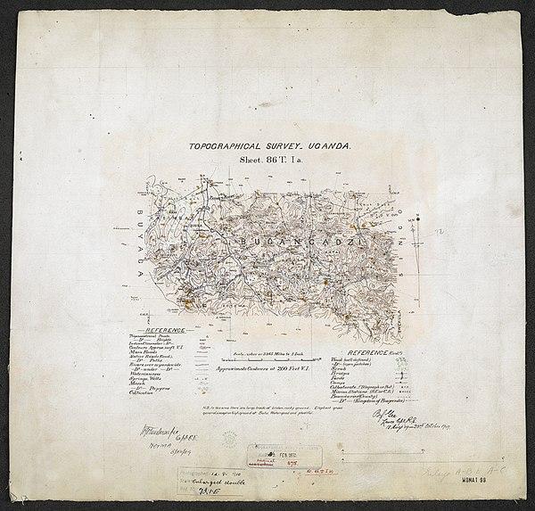 600px topographical survey uganda. sheet. 86t. i a.. %28woos 13 4 1%29