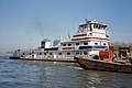 Towboat Michael J. Grainger upbound in Portland Canal Louisville Kentucky USA Ohio River mile 605 1998 file 98k078.jpg