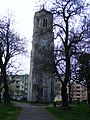 Tower of Holy Trinity church in Lubań 2014 bk02.jpg