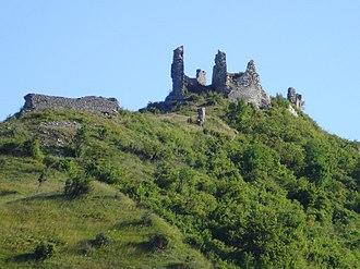 Frankopan - Image: Tržan grad (Modruš) jugozapad
