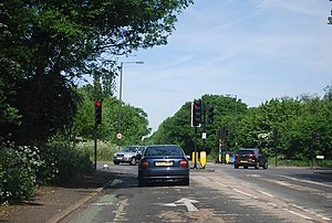 A236 road - The A236 passing through Mitcham
