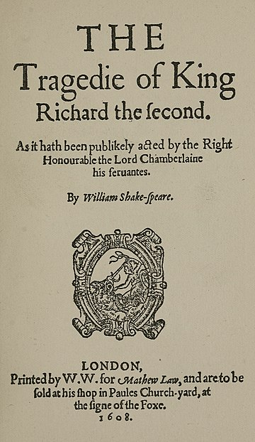 Tragedie of King Richard the second (4th Quarto 1608).jpg