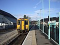 Train leaving Newbridge Station - geograph.org.uk - 1157303.jpg